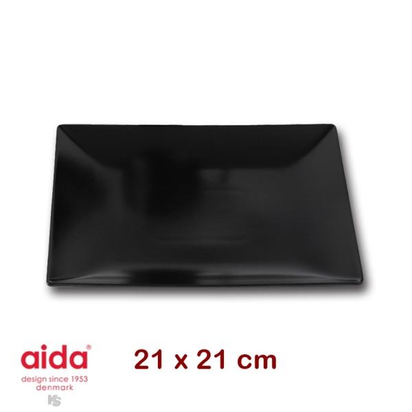 aida QSB Teller schwarz quadratisch 21cm