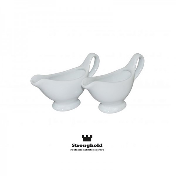 Saucières en porcelaine blanche, lot 2pc