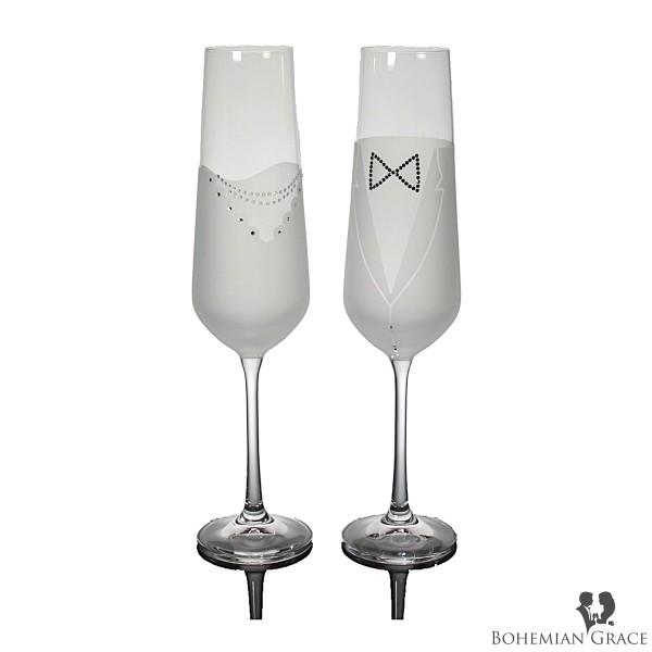 Verre à Champagne WEDDING 2pc, B. Grace