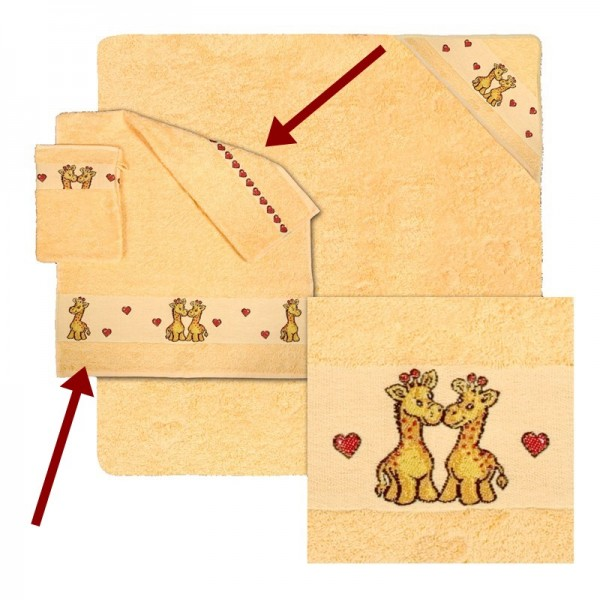 BOBO girafe, serviette de toilette 50x70