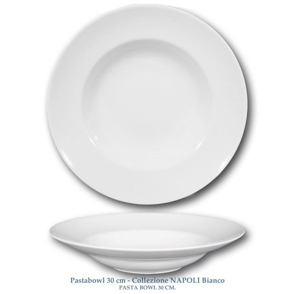 Assiette à nouilles, Saturnia,blanc,30cm