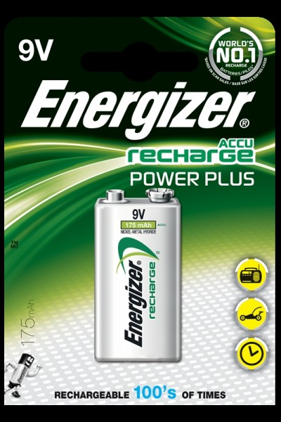 Energizer pile rechargeable 9V,175, 1pc