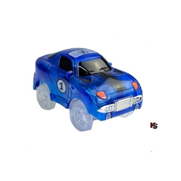 Auto mit Motor zu Autorennbahn Nr 1 Blau
