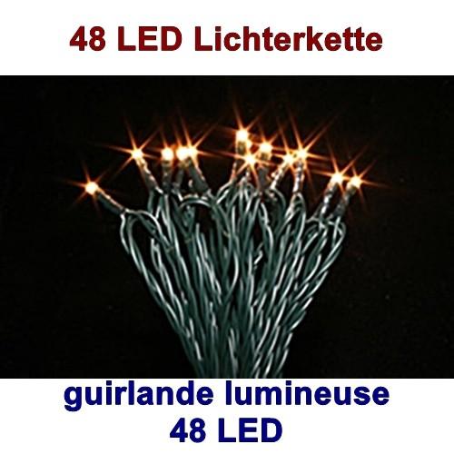 Leuchtkette Outdoor, 48 LED, Timer, etc