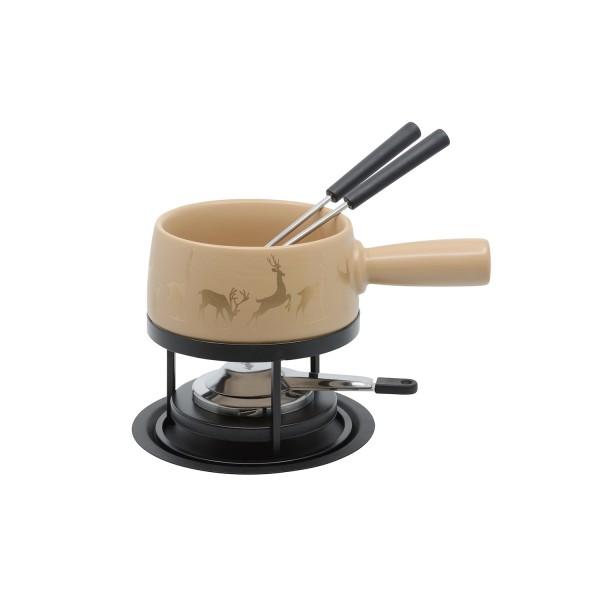 Service à fondue au fromage S Cerf 5 pc