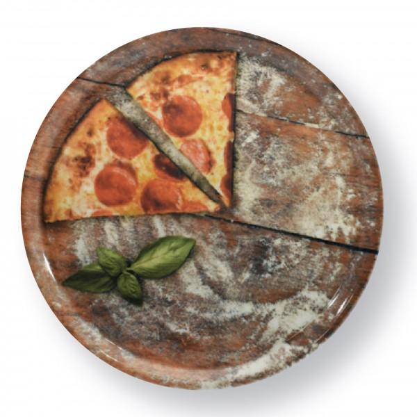 Assiette à pizza 33cm, décor: SLICE