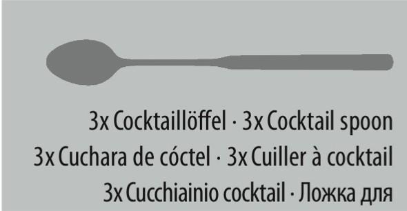 couvert CANNES cuillère à à cocktail 3pc