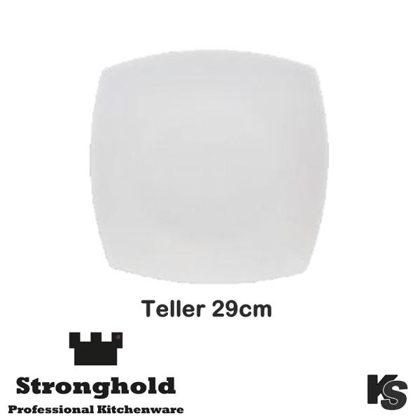 Eckige Gastro- Teller 29cm, Porzellan