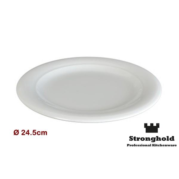 Runde Gastro- Teller 24.5cm, Porzellan