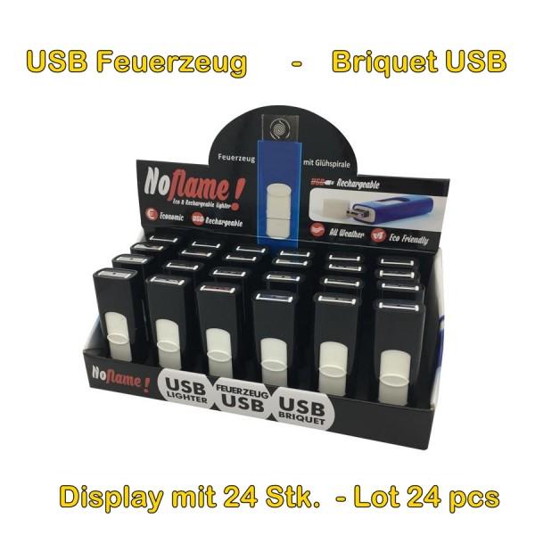 Display mit 24 Stk. USB Feuerzeugen