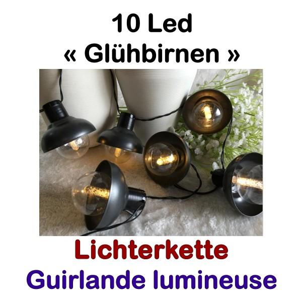 Lichterkette 10 Led Birnen Lampenschirm
