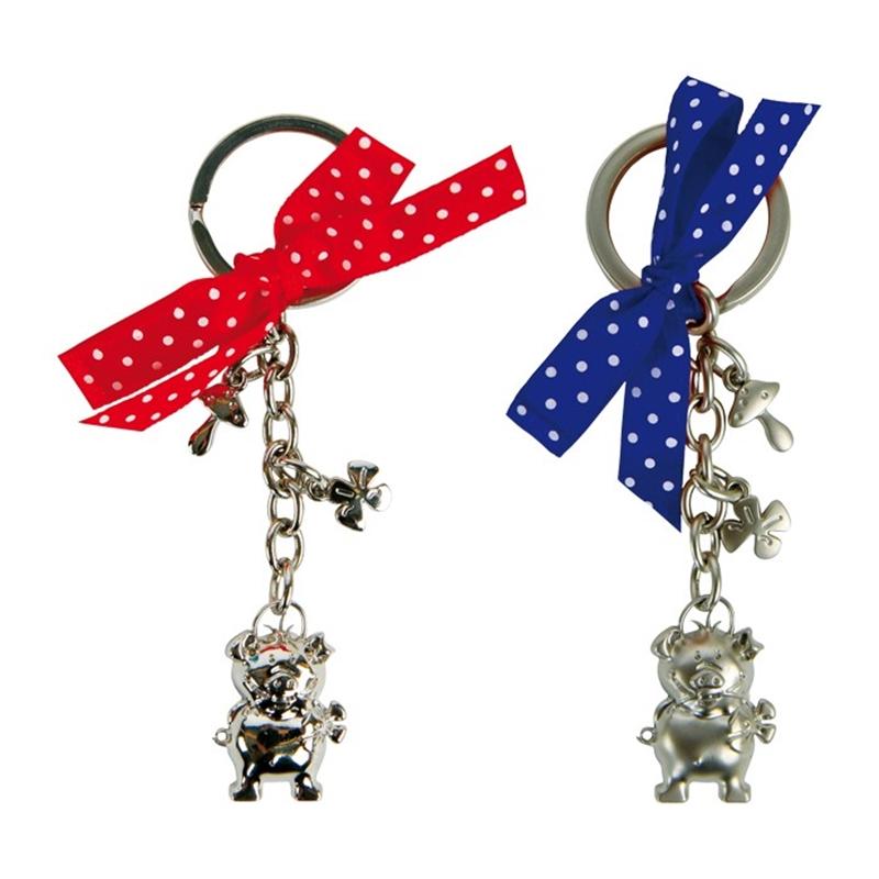 Schlüsselanhänger, Glücksschwein Lucky, Set Matt und Glanz, Schlüsselanhänger, Lucky, Set mit 2 Stk.