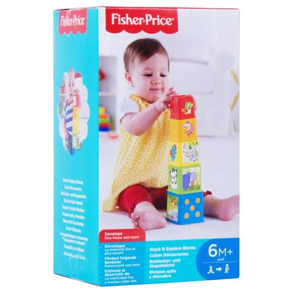 Bunte Stapelwürfel - Fisher Price
