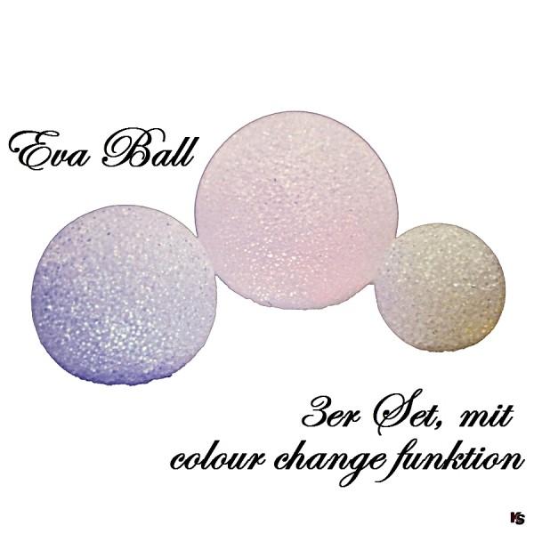 EVA-Ball, 3er Set Farbwechsel LED-Ball