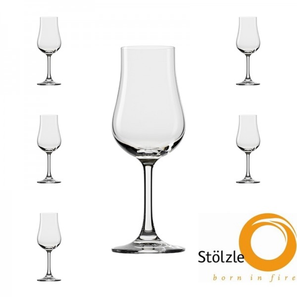 Glas, CLL, 6x Destillatgläser, 185