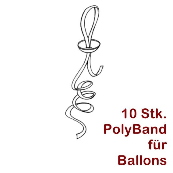 10Stk. Ballonband mit Zipper Verschluss
