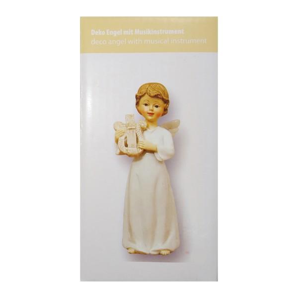 Engel am Harfe Spielen, 8 x 5.5 x 15cm