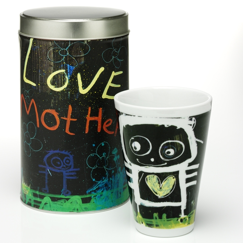 POUL PAVA love mother thermo Mug (Tasse) in Geschenkdose, PAVA love mother thermo Mug, Geschenkd