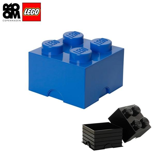 XXL Lego Aufbewahrungsbox 4 Noppen, Blau