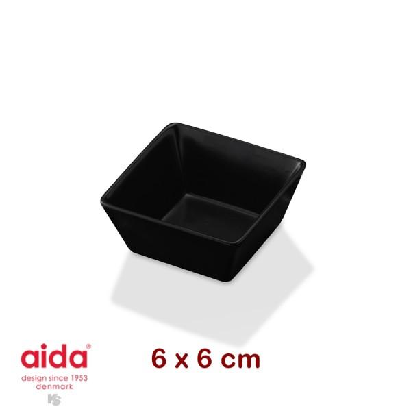 aida QSB plat creux noir carré 6 cm