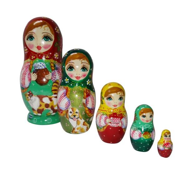Babuschka Puppe 5tlg 17cm (Matrjoschka)