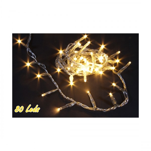 Lichterkette 80 LED, L= 237cm, mit Timer