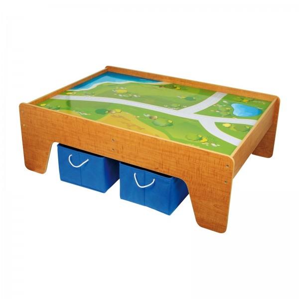 Spieltisch mit Aufbewahrungsboxen