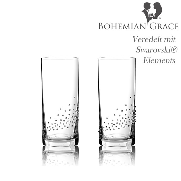 Trinkglas, 2Stk Gläser Bohemian Grace V