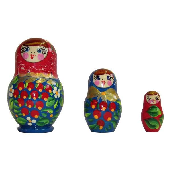 Babuschka Puppen 3tlg, 8cm (Matrjoschka)