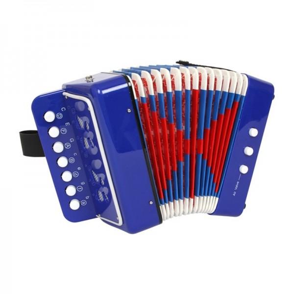 Klangspielzeug, Knopf- Akkordeon blau
