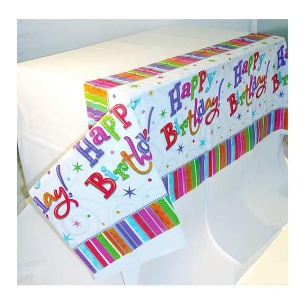Plastik Tischtuch Happy Birthday