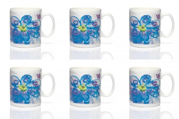 PAVA more flowers-blue 6Stk. Becher