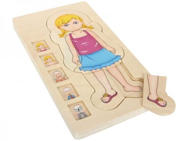 Holz- Steckpuzzle Anatomie Mädchen