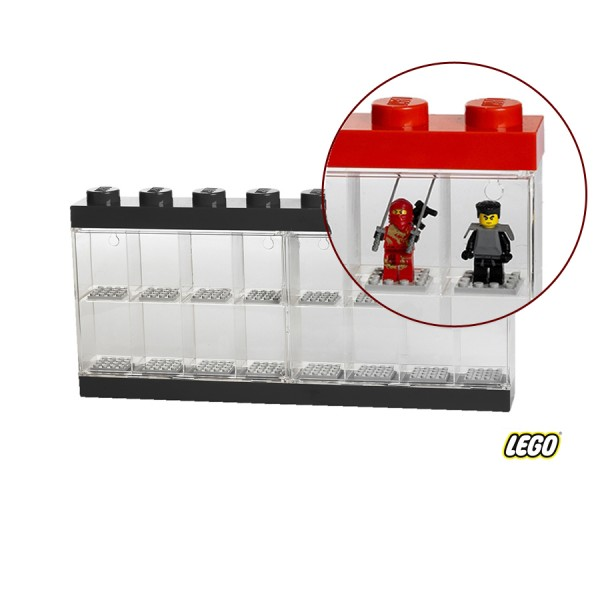Lego Minifigure Display Case 8 Knob, Blk