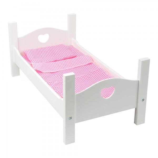 Mobilier de poupée: Lit et parure de lit