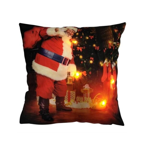 """LED Kissen 40x40cm mit Füllung """"Santa"""""""