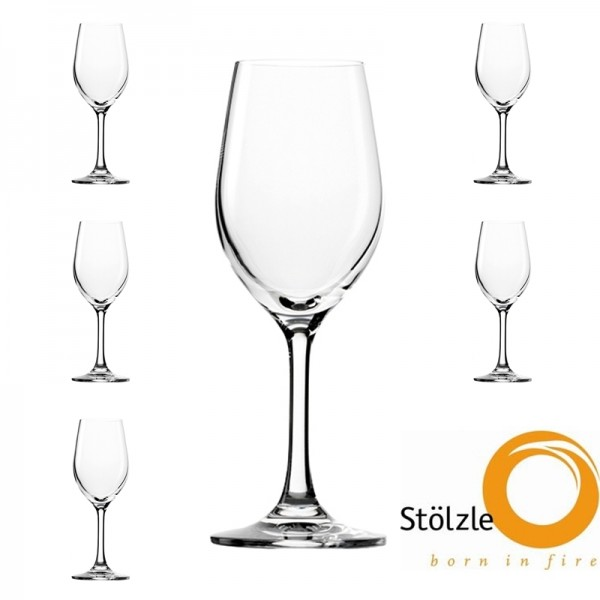 Glas, CLL, 6x Port-, Süss-Weinkelch, 180