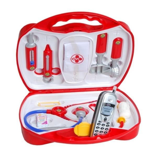 Kinder Doktorkoffer mit Stethoskop, uvm