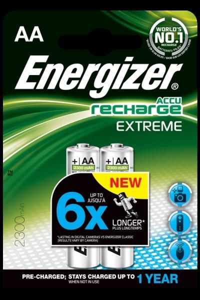 Energizer wiederaufladbare Batterien, Akku Typ AA 2Stk.
