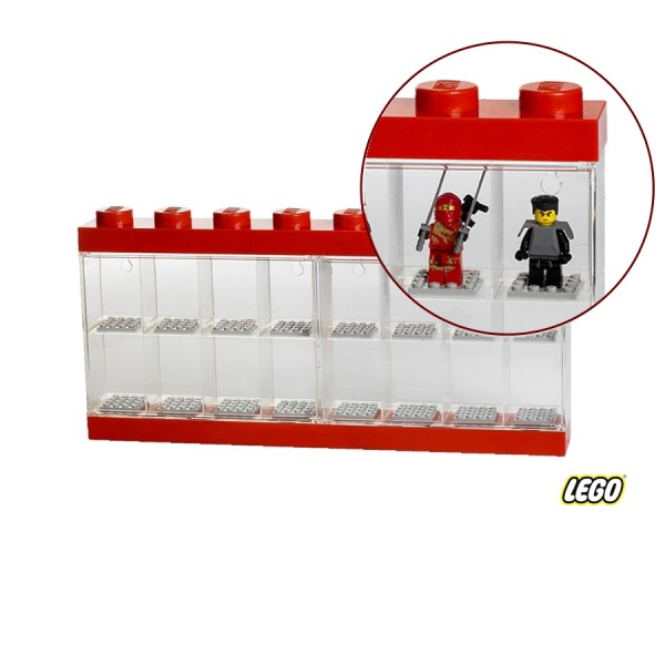 Lego Minifigure Display Case 8 Knob, Red