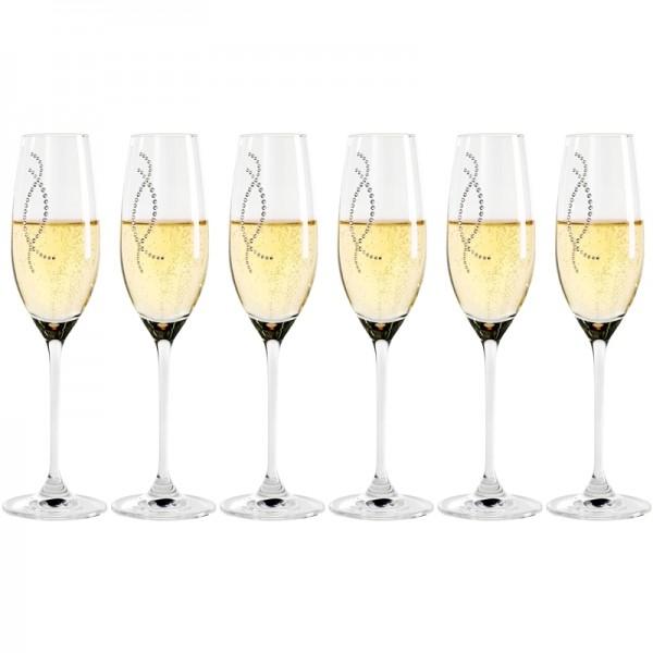 Verres à champagne, Swarovski, Lot de 6