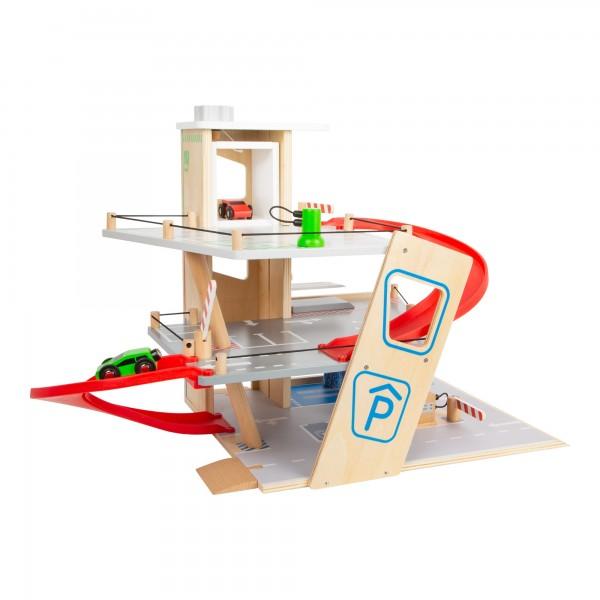 Spielzeug- Parkhaus, -Holzrampen-