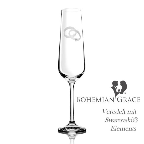 Sektglas AGAPE von Bohemian Grace