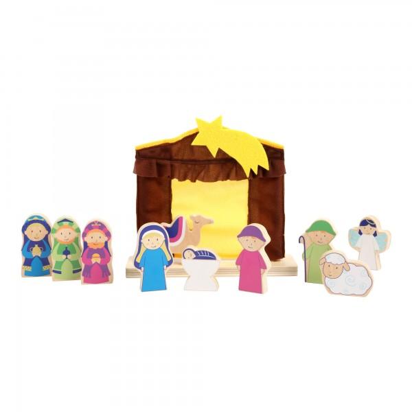 Spielkrippe - Kinder Weihnachtskrippe