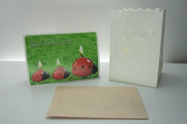 Carte de vœux, lumière decorative Good L