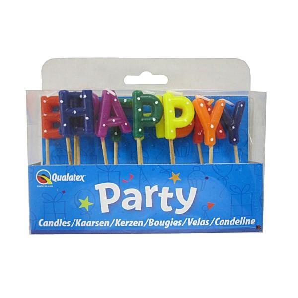 Buchstaben Tortenkerzen: Happy Birthday