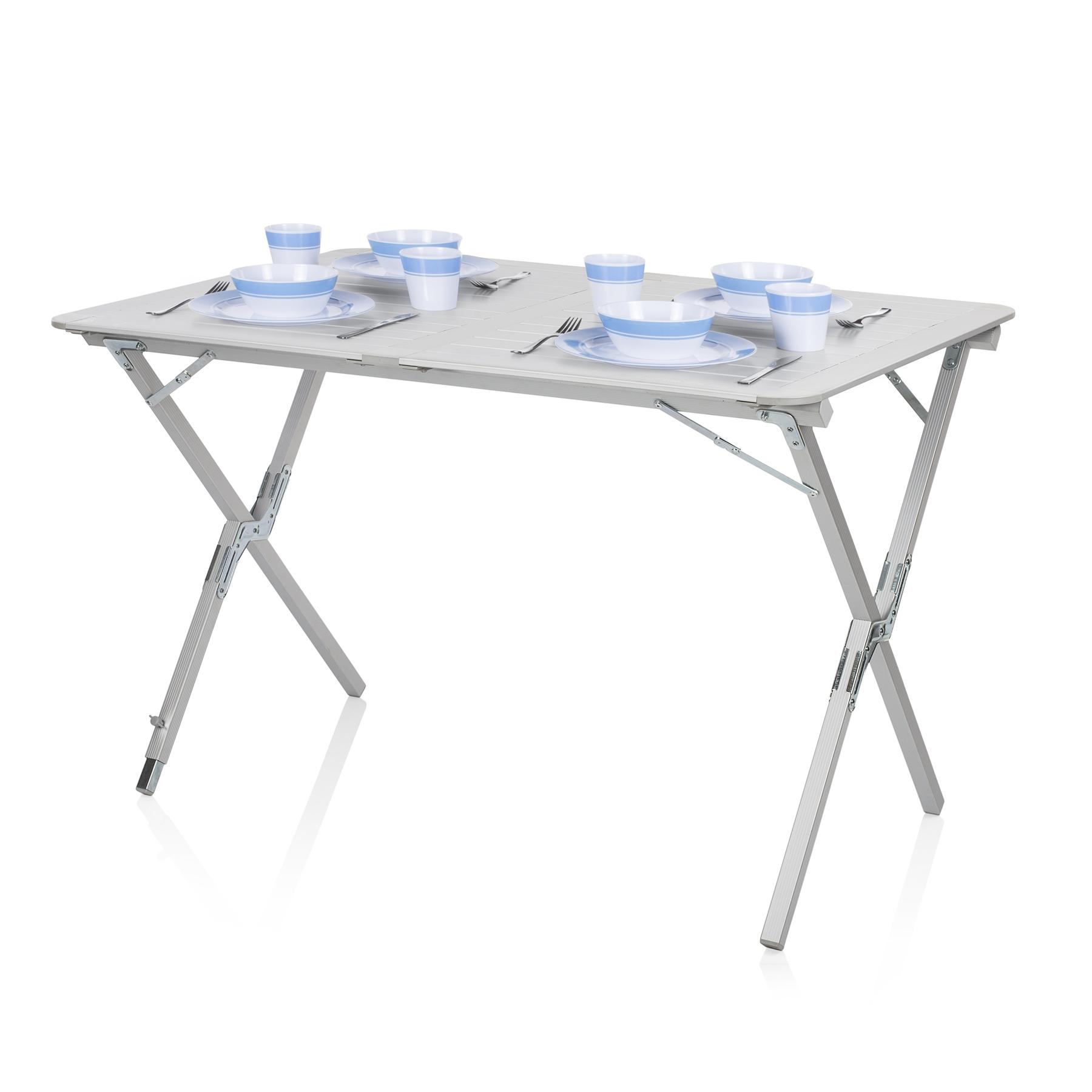 Alu Tisch Klappbar.Roll Up Aluminium Tisch Klappbar Texas
