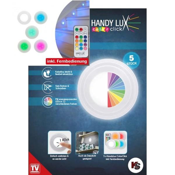 LED Lampen HandyLux Color Click, 5 Stk.