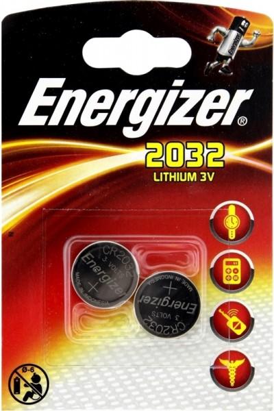 energizer pile-bouton,Lithium,CR2032 2pc