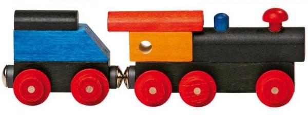 Holzeisenbahn PLAYGO - Dampflok m Tender